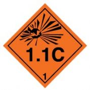 Hazard safety sign - Explosive 1.1C 015